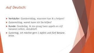 Niederländisch Sprechen 2: Auf dem Markt
