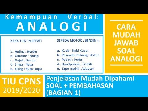 TIU CPNS - Kemampuan Verbal Analogi #1 Contoh Soal Analogi dan Pembahasan   SKD TIU CPNS 2021