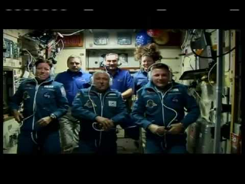New Crew Greeted at Space Station