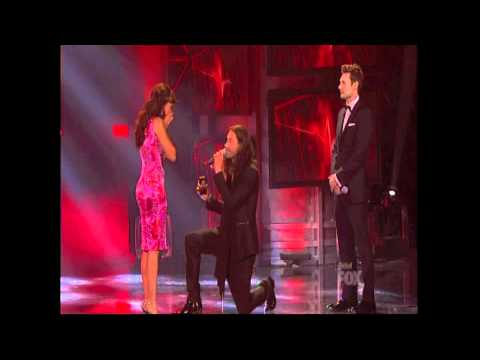 Ace Young Proposes To Diana DeGarmo Live On American Idol.