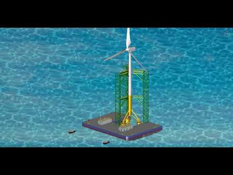 Design for Wind Powerplant Install Barge. www.sehoenc.co.kr