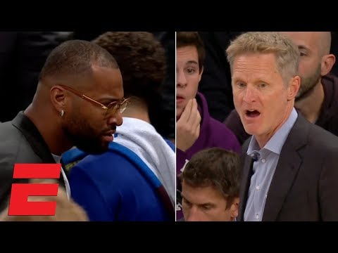 DeMarcus 'Boogie' Cousins Ejected From Bench After Arguing With Referee   NBA Highlights