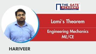 Lami's Theorem | Engineering Mechanics | Mechanical/Civil Engineering