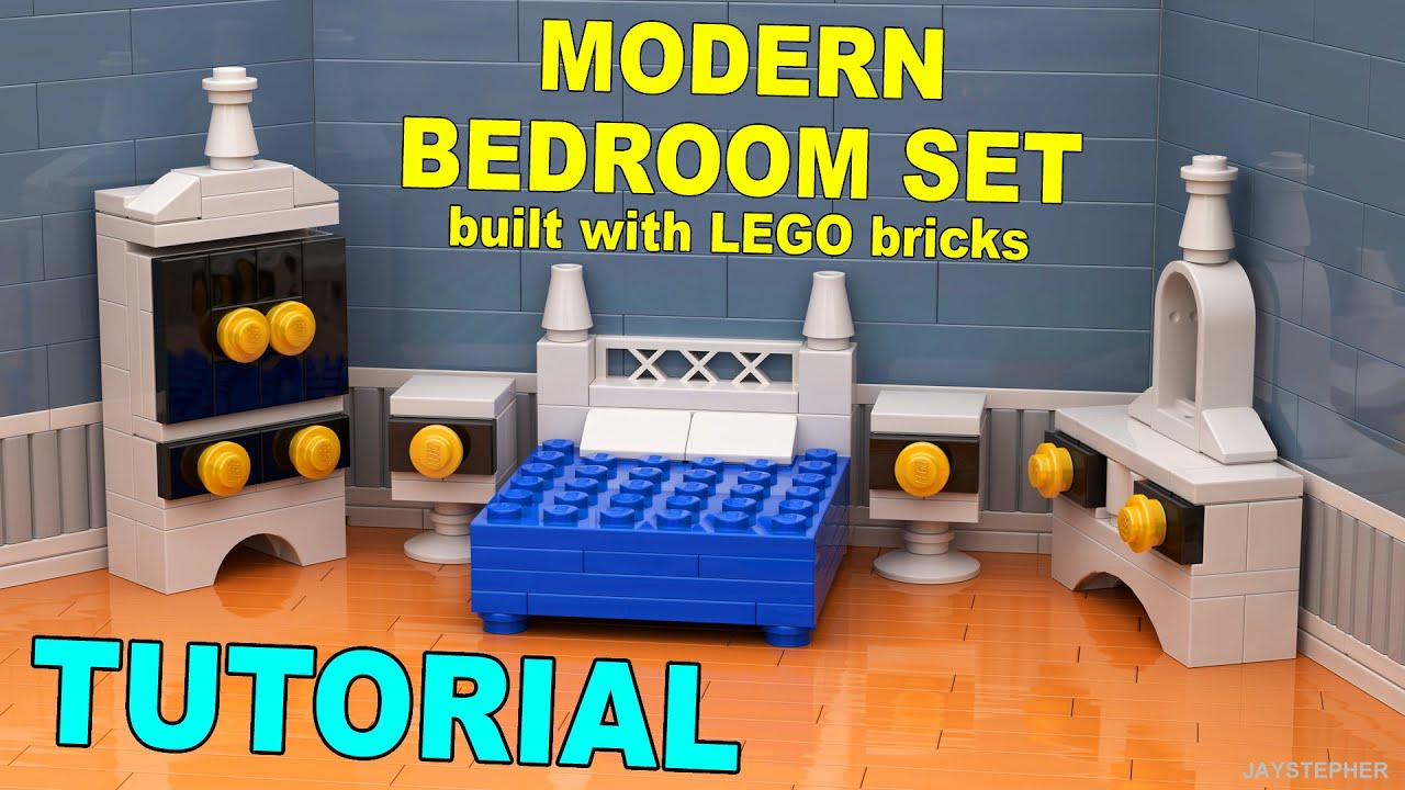 Tutorial - Modern Lego Bedroom Set [CC] - YouTube