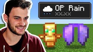Minecraft, But It Rains OP Items