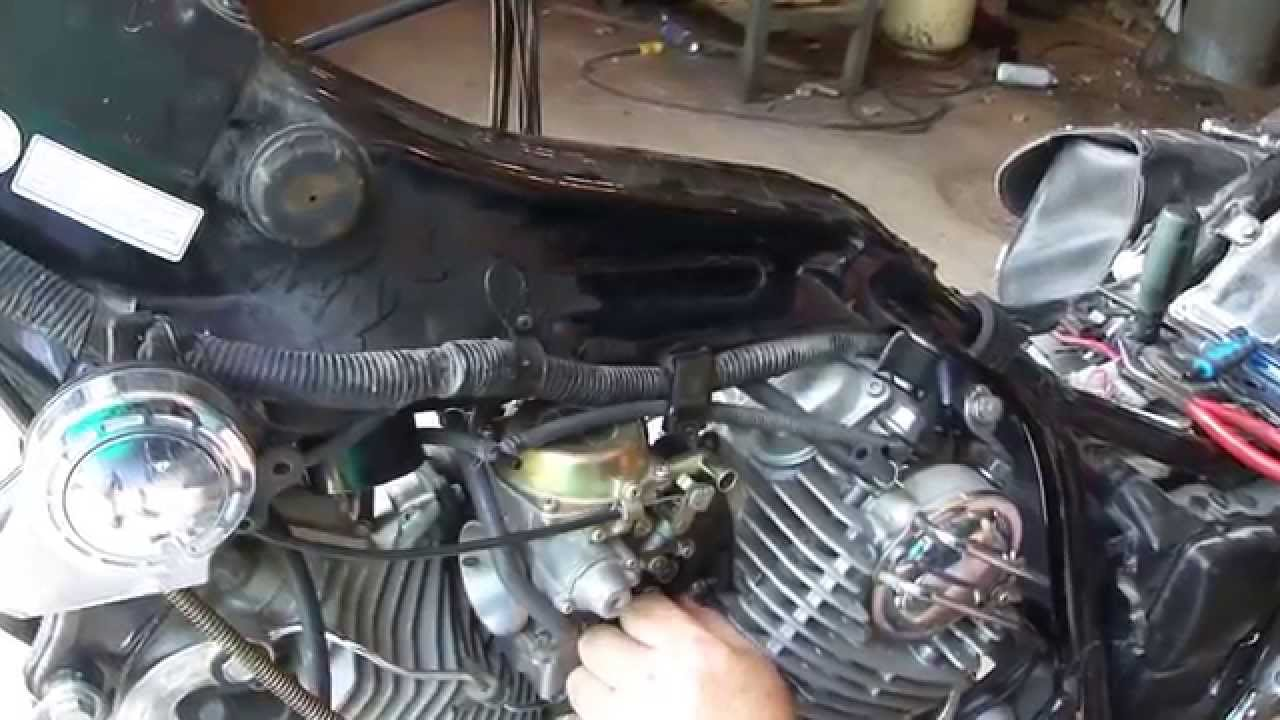 Wire Diagram For 1987 Honda Civic Yamaha Virago Carb Removal And Install 87 99 Youtube