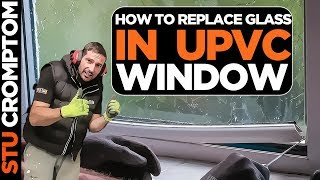 How to replace glass in a upvc double glazed window