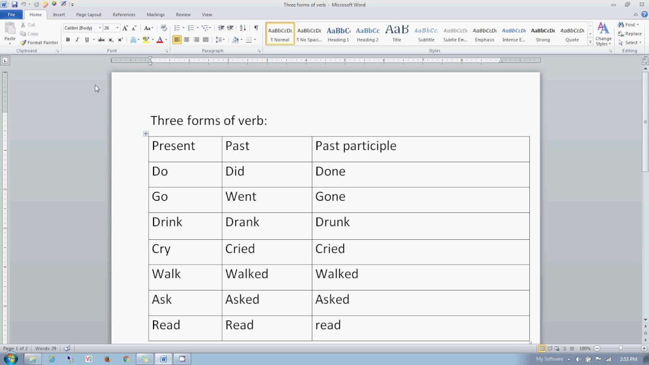 Three forms of verb also youtube rh