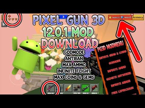 Pixel Gun 3D 12.0.1 MOD MENU DOWNLOAD!!! GodMode, Infinite Flight & Ammo, Max Coins & Gems + MORE!