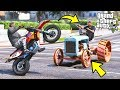 I Replaced ALL Cop Cars With TRACTORS And Then Did THIS!! (GTA 5 Mods - Evade Gameplay)