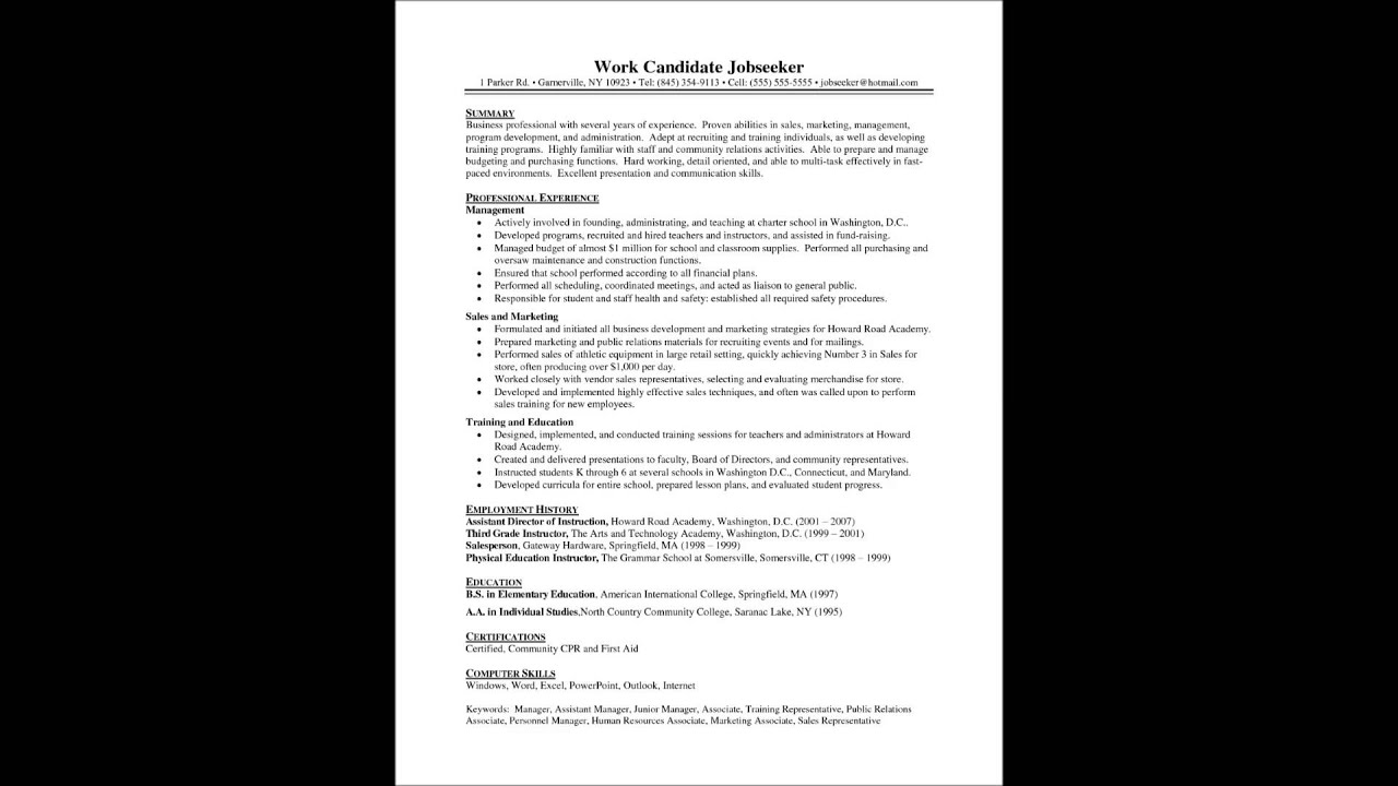 How to make a good resume for fresher - YouTube