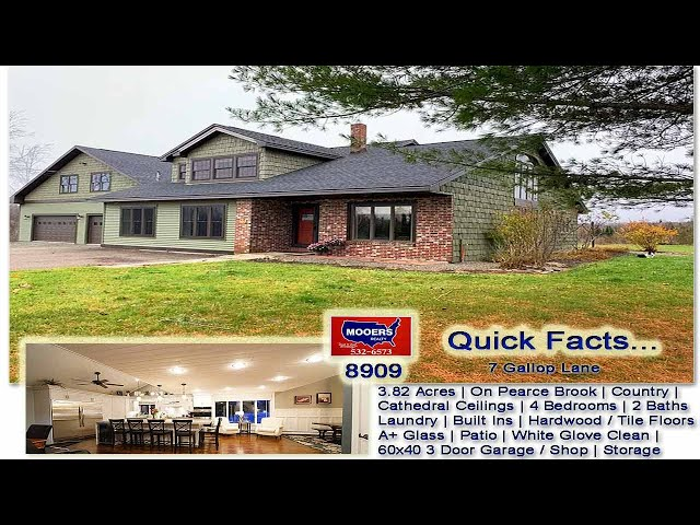 Real Estate In Maine Video   7 Gallop Lane Houlton ME Custom Home MOOERS REALTY #8909