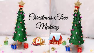 Christmas Tree Making/Christmas Tree from Glitter Foam Sheet/Christmas Tree Decoration for Kids