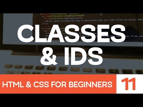 HTML & CSS For Beginners Part 11: Classes & IDs