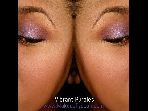 VIBRANT, YET SOFT EYES Tutorial ~ Purples ~Cream Shadow+Mineral Pigments