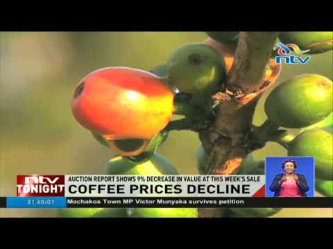 Coffee prices at the Nairobi Coffee Exchange drop by 9% in this week's sale