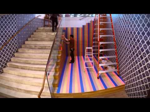 Two miles of Washi tape transforms Chelsea Market store | Anthropologie