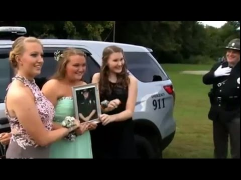 Officers Escort Daughters of Fallen Comrade to Homecoming
