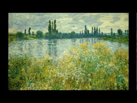 Beautiful Impressionist Paintings and Relaxing Piano Music