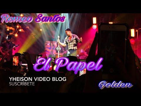 Romeo Santos - El Papel (live) (Golden)