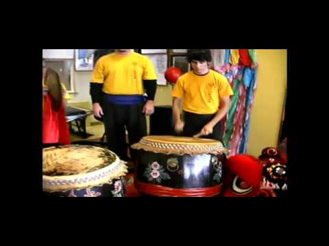 Playing The Drum & Cymbal In The Chinese New Year Lion Dance