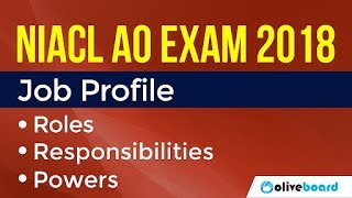 NIACL AO Exam 2018 | Notification | Job Profile
