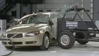 Volvo S80 side IIHS crash test