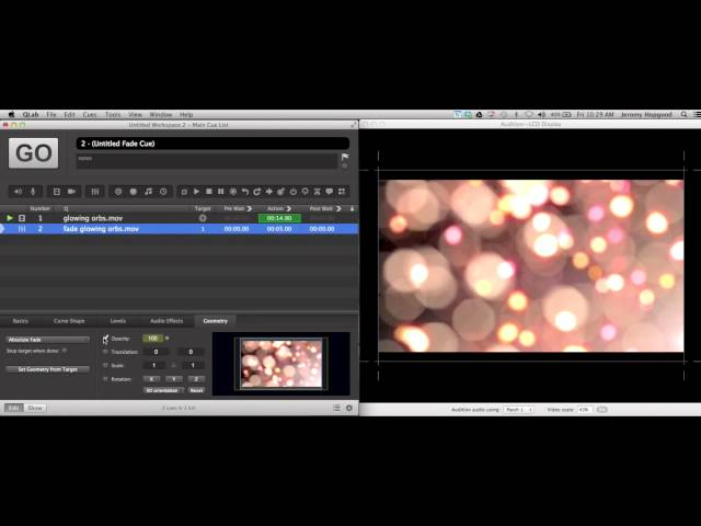 Tutorial: Creating a Video Fade-In with QLab 3