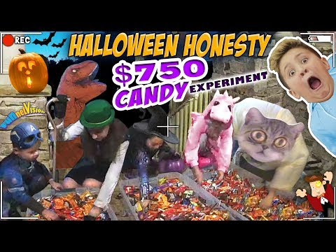 HALLOWEEN TRICK OR TREATER EXPERIMENT  HONESTY TEST w  $750 TREATS  FUNnel Family Greedy Vlog