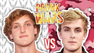 Logan Paul vs Jake Paul PRANK WARS Battle (Best Pranks)