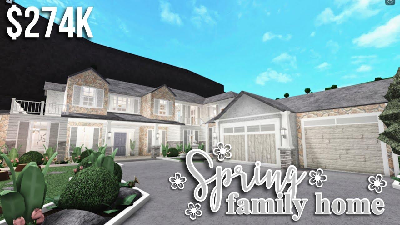 Spring Family Home   Roblox Bloxburg   GamingwithV