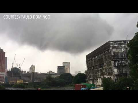 "Tornado, or ""ipu-ipo,"" hits Fort Santiago in Manila"