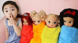 아기 돌보기.숨바꼭질놀이. Pretend Play with Dolls Are you sleeping brother John - 마슈토이 Mashu ToysReview