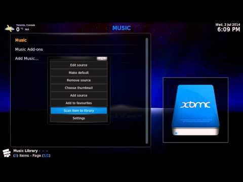 12. How to import music files to XBMC music library - UniXmc