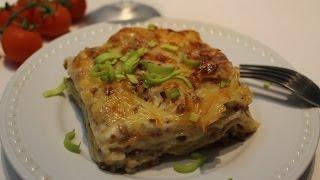 Классическая мясная лазанья с белым вином