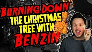 Burning Down The Christmas Tree With BENZIN! | Germanizing Retro Vlogs | 11