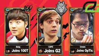 Complete League Of Legends Roster Changes 2019 (NA | EU | LCK | LPL)