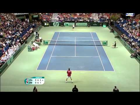 Official Davis Cup Highlights: USA 1-3 Serbia