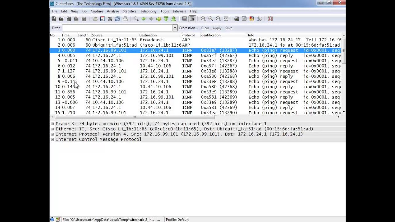 Capturing with Multiple Interfaces Using Wireshark