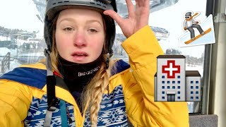 I THOUGHT MY NOSE WAS BROKEN || Snowboard accident