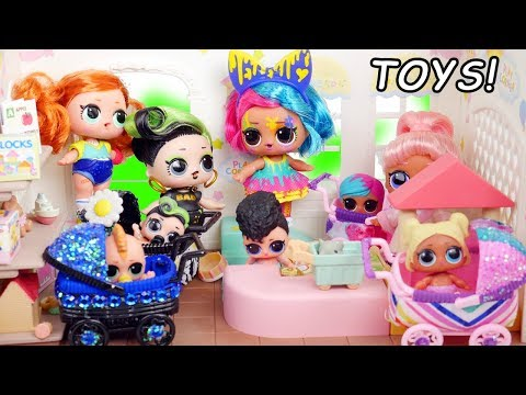 #Hairgoals Series 5 LOL Surprise Dolls Open Fake Toys R Us Store with Real Hair