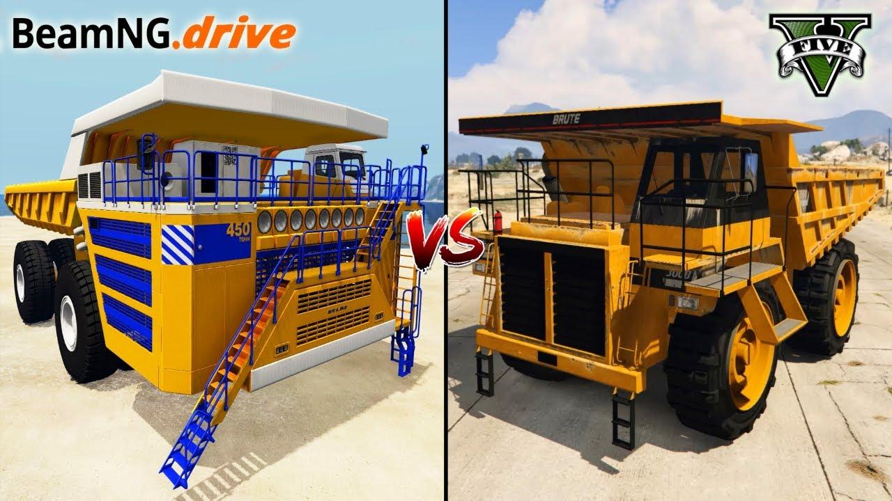 BEAMNG.DRIVE DUMP TRUCK VS GTA 5 DUMP TRUCK - WHICH IS BEST?