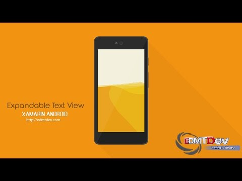 Xamarin Android Tutorial - Expandable Text View