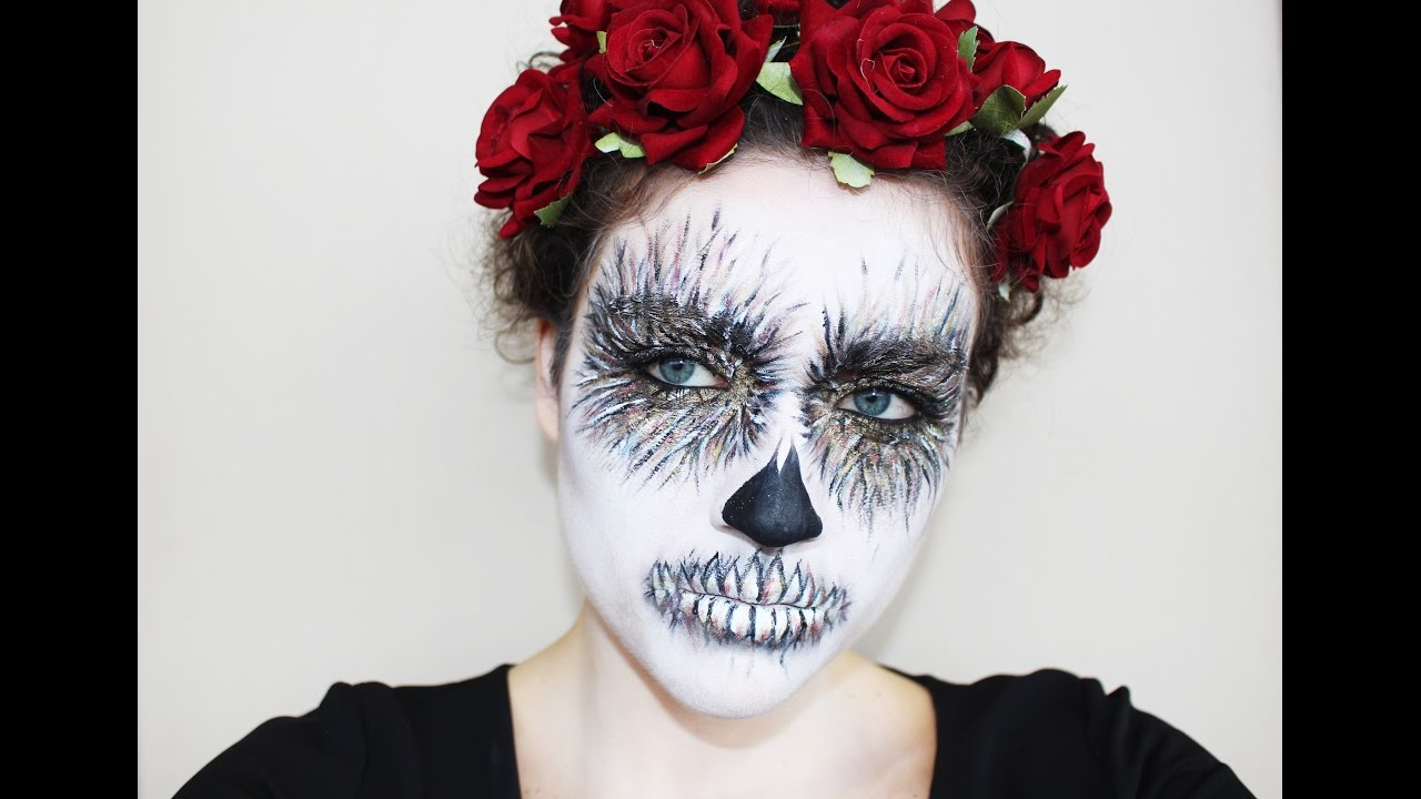 Amato TRUCCO HALLOWEEN Teschio Messicano alternativo | CurlyMakeup - YouTube WP16