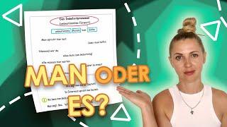 man или es? Неопределённое местоимение в немецком языке_Уровень А1
