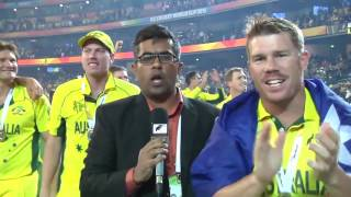 Bangladeshi reporter with team Australia