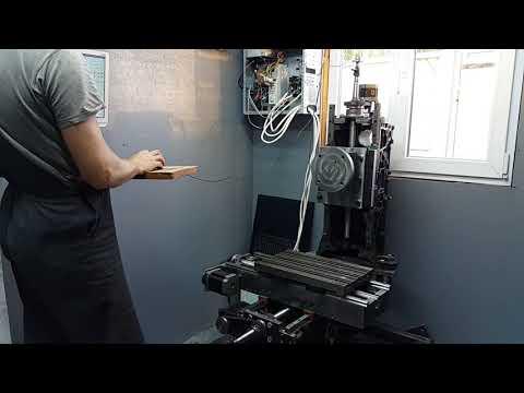 DIY CNC milling machine test
