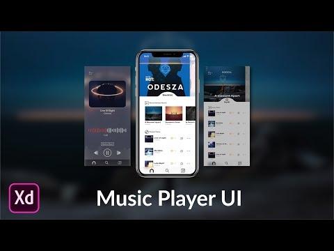 Music App DesignPrototype in Adobe XD  Speed Design