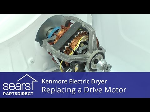 How to Replace a Kenmore Electric Dryer Drive Motor - YouTube Kenmore Dryer Wiring Diagram on