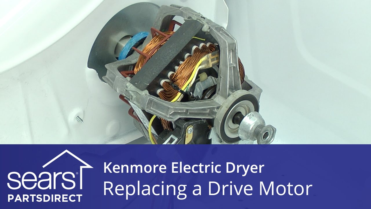 How To Replace A Kenmore Electric Dryer Drive Motor Youtube Whirlpool Schematic And Wiring Old Style